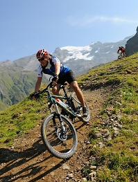 riding xc guided trails in the swiss alps