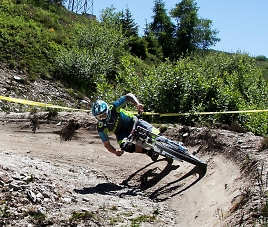 dirt berms in the swiss alps