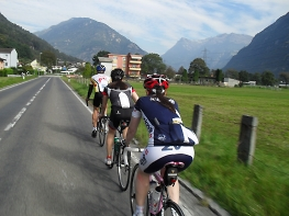 group road riding in switzerland