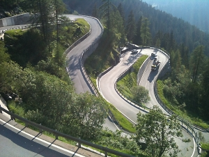 switchback descents by road biking
