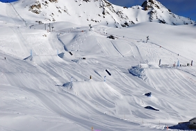 Snow Park in Grimentz, Switzerland