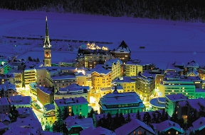 st-moritz by night with lights