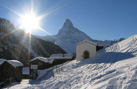 World famous mountain restaurants in Findeln, Zermatt Switzerland