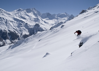 Skiing in Zinal, Switzerland