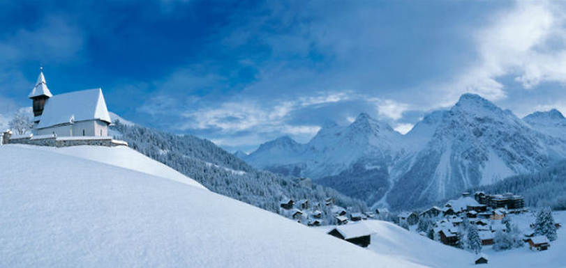 Switzerland Holiday Winter Alpine Scene