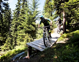 northshore riding in the alps