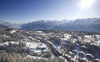 crans and montana with snow and sunshine by denis emery