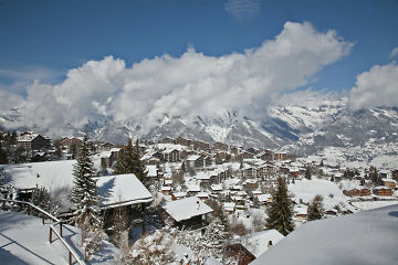 snowy nendaz in the 4 vallees